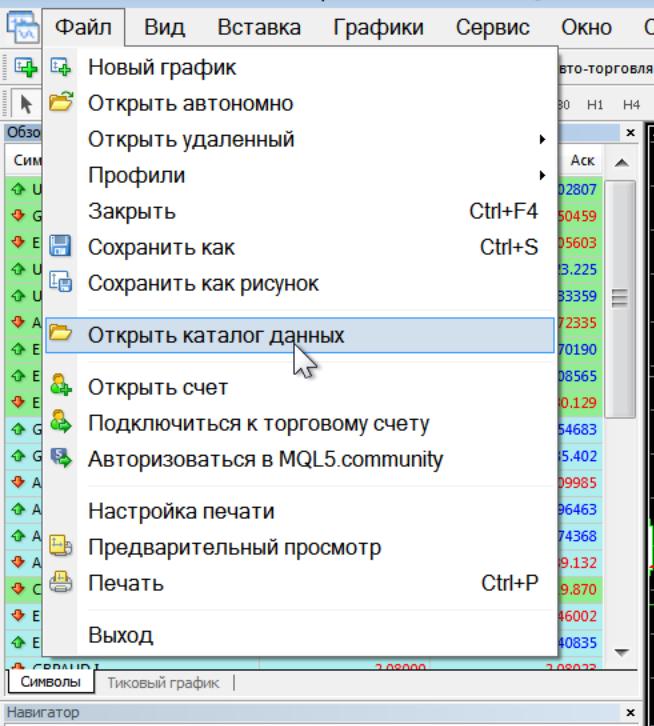 Как установить индикаторв в MetaTrader 4