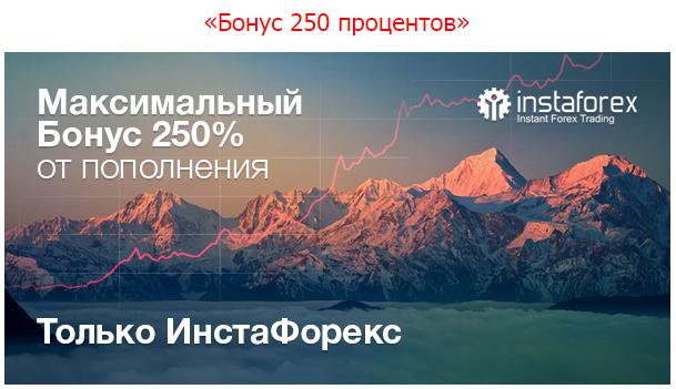 Форекс бонус 250% от Инстафорекс