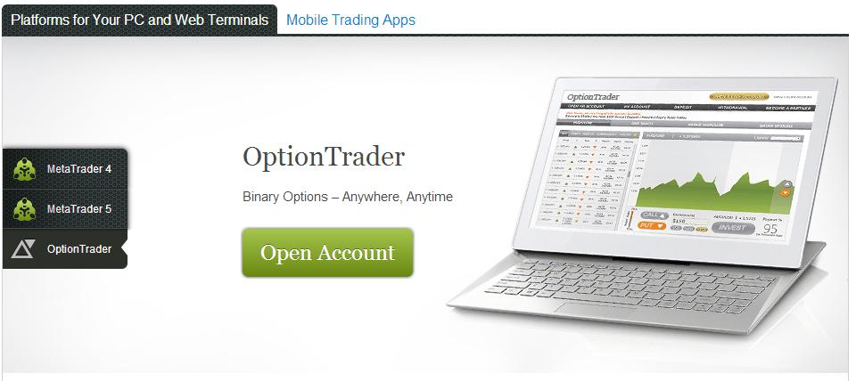 Торговая платформа для бинарных опционов Альпари