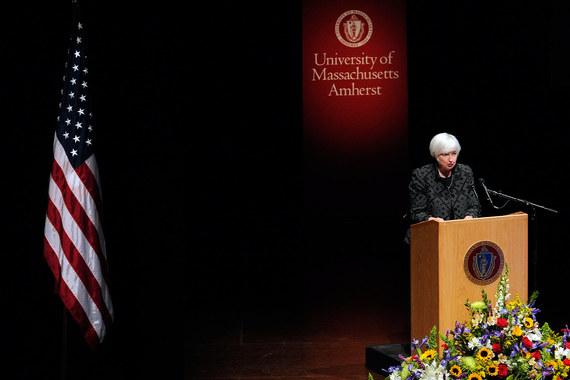 Выступление Джанет Йеллен в Массачусетском Университете