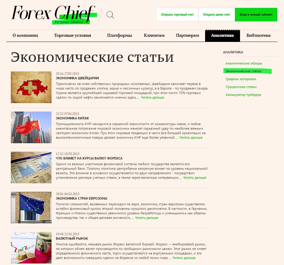 Обучение и аналитика ForexChief