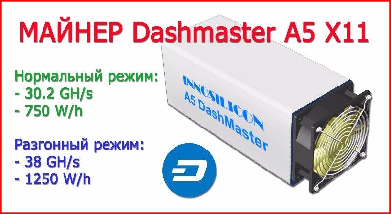 innosilicon a5 dashmaster asic