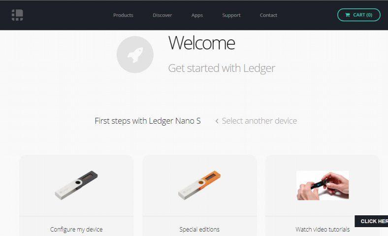 Configure my device Ledger Nano S