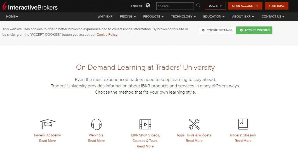 Обзор Interactive Brokers –образование