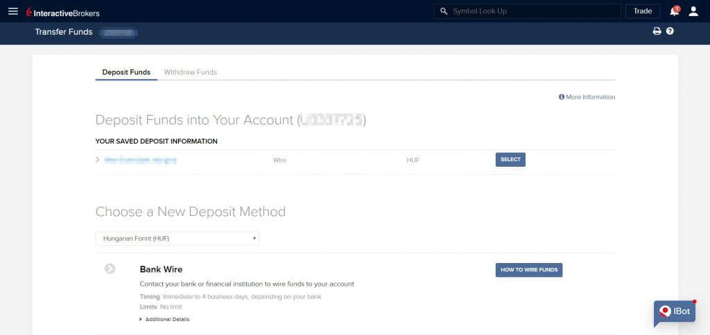 Обзор Interactive Brokers –ввод и вывод средств